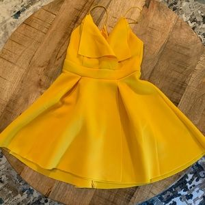 ASOS Dresses - Canary yellow skater dress